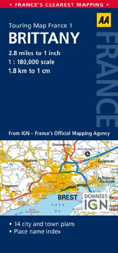 1. Brittany: AA Road Map France (Aa Road Map France 01)