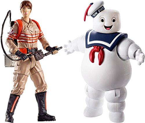"""Action Figure Ghost Busters Erin Gilbert Action Figure, 6"""" & Ghost Busters Stay Puft Balloon Ghost Figure, 6"""""""