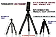 CamRah Universal Pro Series Tripod with Bluetooth Shutter Remote and JAWS Mount Holder