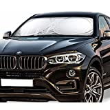 AMASKY(TM) Car Windshield Sunshade UV Ray Deflector with for Various Vehicles Keep Your Vehicle Cool and Free Damage, Easy To Use