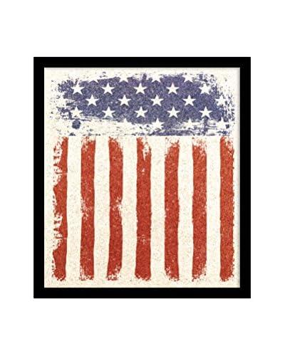 American Flag Framed Corkboard