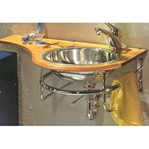 New Generation Banjo Shaped Cherry Wood Bath Sink Counter