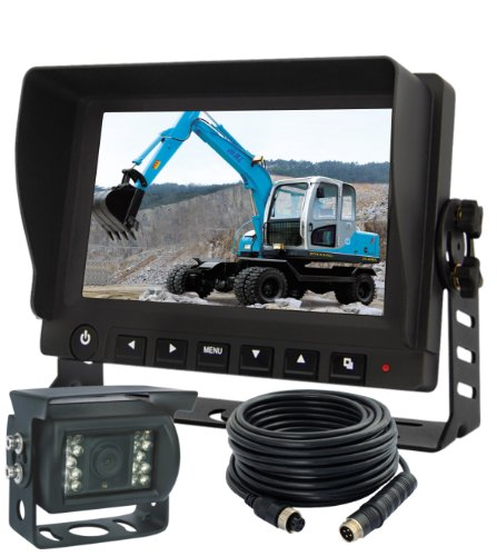 "New 7"" Rear View Reverse Camera Monitors Screen System For Farm Tractors Digital Waterproof Agriculture Rv Truck Trailer Bus"