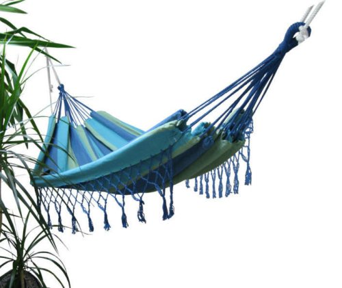 Hammock for Several People with Fringe 320 x 160 cm