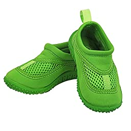 Infant Toddler Unisex Water Sand and Swim Shoes by Iplay,6 M US Toddler,Lime