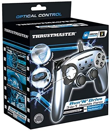 Thrustmaster Run 'N Drive Rumble Force Gamepad With Optical Wheel Control For PS3 And PS2 - Model 2960686 PS3 Controllers