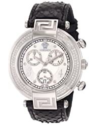Versace Women's 68C91SD498 S009 Reve Chrono Black Genuine Python Mother-Of-Pearl Diamond Watch