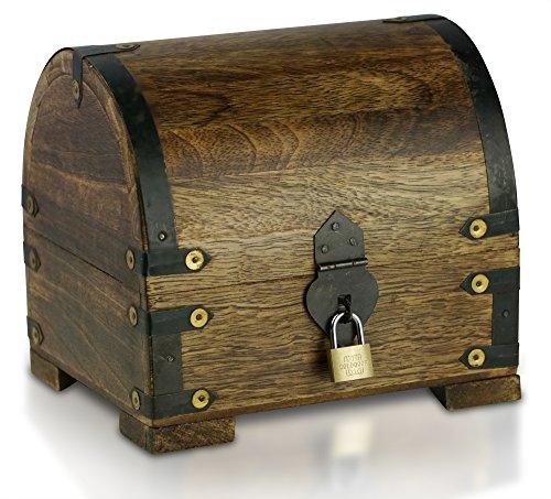bauern kasse schatz truhe schatz kiste aus holz large l. Black Bedroom Furniture Sets. Home Design Ideas