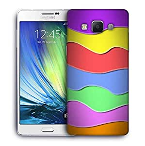 Snoogg zoom wave 2419 Designer Protective Back Case Cover For Samsung Galaxy A7