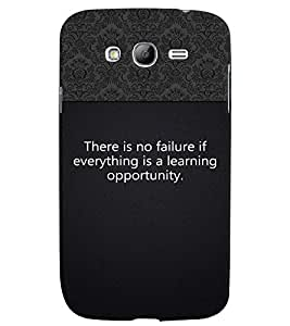 Fuson 3D Printed Quotes Designer back case cover for Samsung Galaxy Grand Neo Plus - D4310