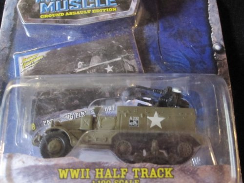 U.S. Army Half Track Military Muscle 1:100 Scale By Johnny Lightning