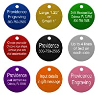 Round Pet ID Tags | 8 Colors Available | Dog Cat Aluminum
