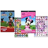 Disney Mickey Mouse Sticker Pad and Minnie Mouse Sticker Pad Set (Over 400 Stickers total!)