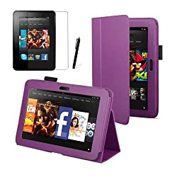 Purple Executive Multi Function Standby Case for the New Kindle Fire HD 7