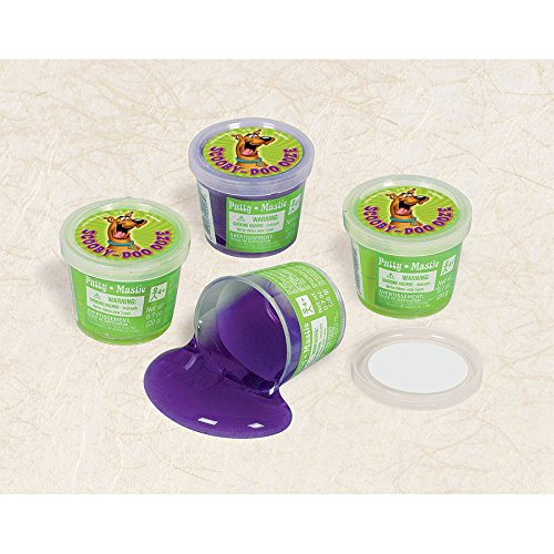 "Amscan Awesome Scooby-Doo Ooze Putty Favor Birthday Party Favor, 1-1/4 x 1-1/2"", Purple - 1"