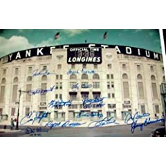 Autographed Yogi Berra Picture - Yankee Stadium 16x20 by Whitey Ford Phil Rizzuto... by Sports Memorabilia