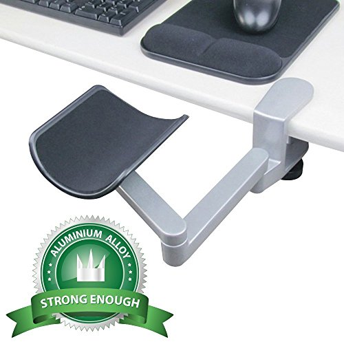 Wrist Rest - Tuned Vertical Direction - eLink Pro® Ergonomic Arm Support - Fashionable Aluminium Alloy Computer Armrest_Silver