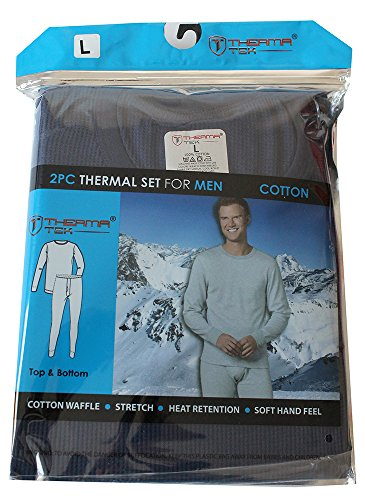 therma-tek-formerly-comfort-fit-winter-mens-thermal-100-cotton-top-bottom-2-pcs-set-navy-blue
