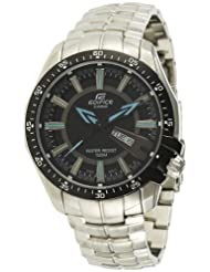 Casio Edifice Analog Black Dial Men's Watch EF-130D-1A2VDF