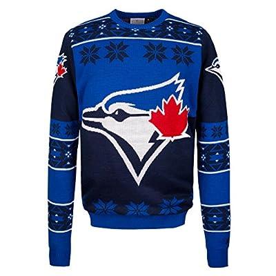 Toronto Blue Jays MLB Big Logo Ugly Crewneck Sweater