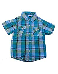 Snoby Boys check shirt different shades of green(SBY786)