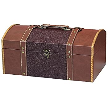 Leather Trunk, Designer Treasure Chest (Prince, Extra Large)