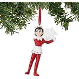 Amazon.com: The Elf on the Shelf Ornament Girl Hallmark ...