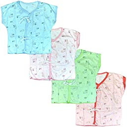Lucky Lucky 4 Pack Tops Tee For Unisex Newborn Cotton Softness , Baby shirt