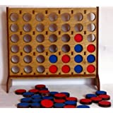 4 in a Row Wooden Tabletop - Travel - Convertible Game