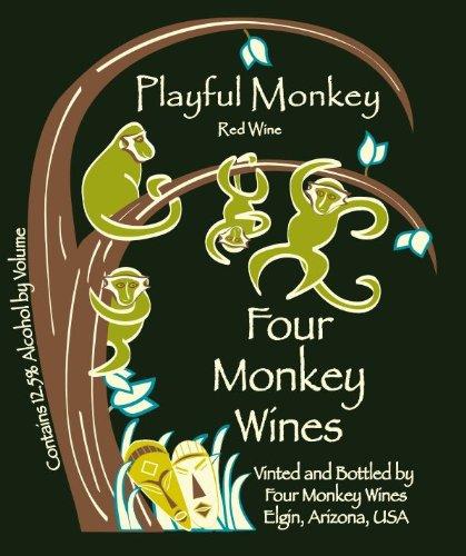 Nv Four Monkey Wines Playful Monkey Blend - Red 750 Ml