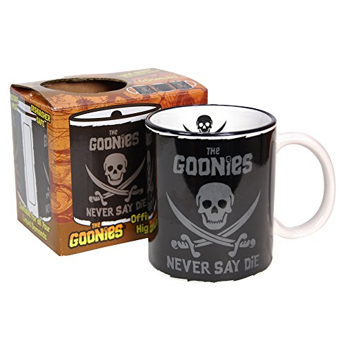 The Goonies Gift Boxed Mug 80s Classic Movie Pirate logo Chunk Sloth (with free key ring)