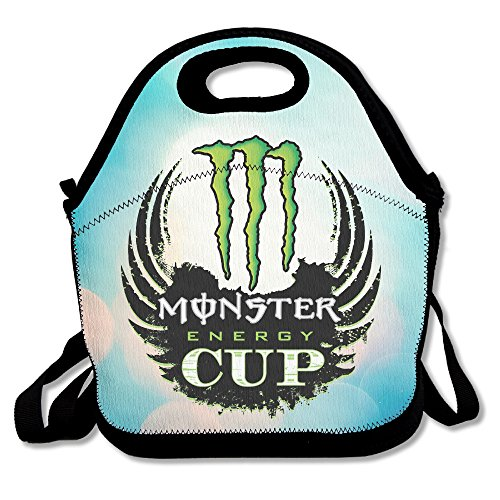 Bakeiy High Energy Drink Lunch Tote Bag Lunch Box Neoprene Tote For Kids And Adults For Travel And Picnic School (Monster Energy Apparel Kids compare prices)