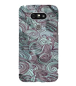 PrintVisa Vintage Art Waves Pattern 3D Hard Polycarbonate Designer Back Case Cover for LG G5