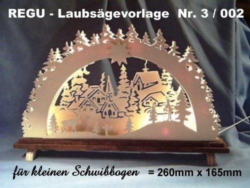 REGU Laubsägevorlage Schwibbogen 3/002