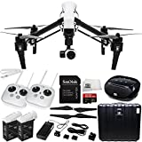 DJI Inspire 1 with Dual Remotes EVERYTHING YOU NEED Kit Includes SanDisk Extreme PRO 32GB UHS-I/U3 Micro SDHC Memory Card (SDSDQXP-032G-G46A) + DJI TB47 Intelligent Flight Battery + DJI 1345 Self-Tightening Props + High Speed Memory Card Reader + SSE Transmitter Lanyard + Microfiber Cleaning Cloth + SSE FURY SPEAKER