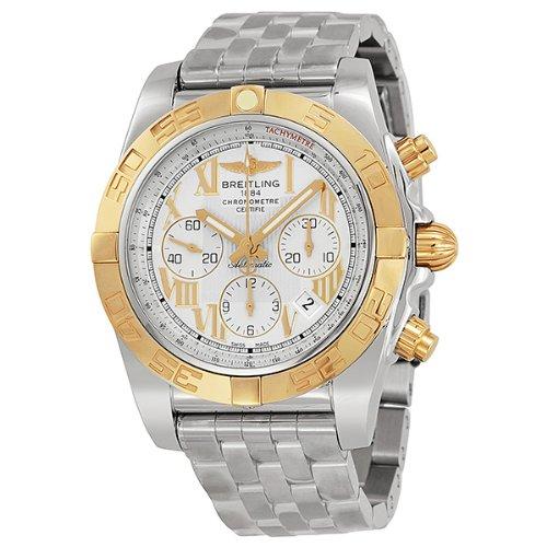 Breitling Men'S Btcb011012-G677Ss Chronomat 44 Analog Display Swiss Automatic Silver Watch