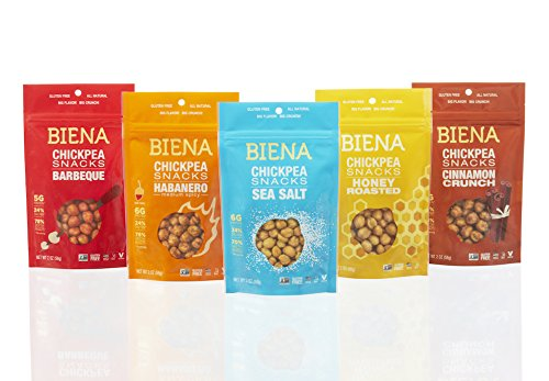 Biena Chickpea Snacks, Variety Pack, 2 Ounce (Pack of 5) (Chick Peas Roasted compare prices)