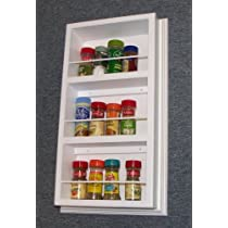 (SR-518) Solid Wood Recessed ON the wall Spice Rack 19.5