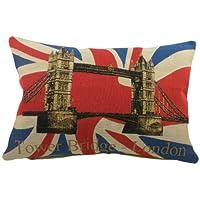 Evans Lichfield - Cojín (45 x 33 cm), diseño de Puente de Londres y bandera británica