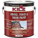 KILZ Exterior Siding, Fence, and Barn Paint, Red, 1-gallon (Color: Red, Tamaño: Gallon)