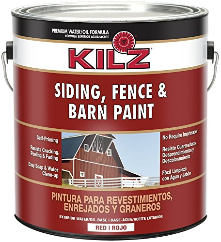 KILZ Exterior Siding, Fence, and Barn Paint, Red, 1-gallon (Barn Red Paint compare prices)