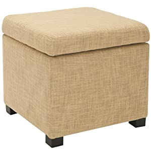Safavieh Madison Square Ottoman, Gold