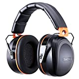 Noise Reduction Ear Muffs, Tacklife [Reinforced] NRR 28dB Shooters Hearing Protection Ear Muffs, Adjustable Headband, Noise Cancelling Headphones for Kids and Adults - HNRE2 (Color: Black)