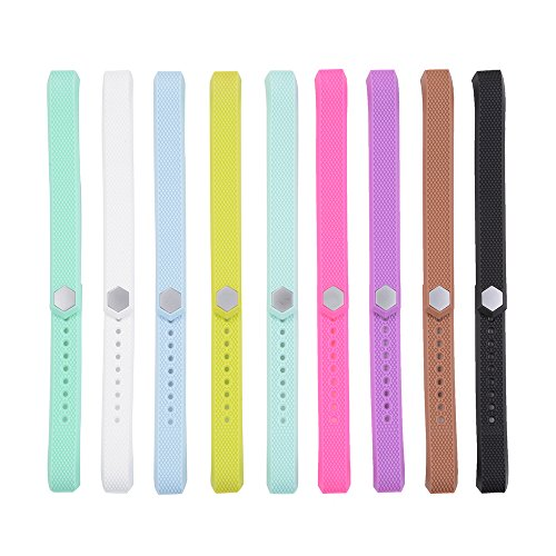 XCSOURCE 9pcs Colorful Replacement Wristband with Metal Clasps for Fitbit Alta (No Tracker, Replacement Bands Only) TH427