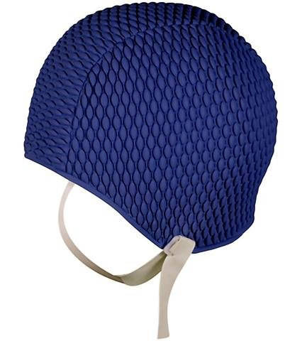 ladies-swim-hat-with-chin-strap-mens-swimming-cap-easy-to-put-on-navy-blue-by-fine-saratoga