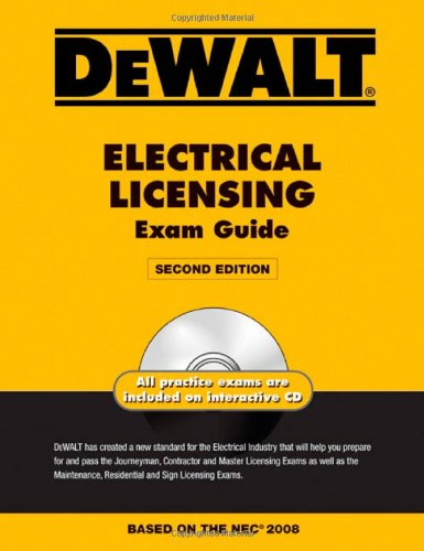 DEWALT Electrical Licensing Exam Guide - 2008 NEC - DEWALT - DE-0979740312 - ISBN: 0979740312 - ISBN-13: 9780979740312