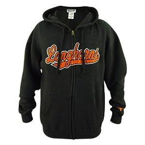Texas Longhorns Mens Tailsweep Charcoal Full Zip Hooded Sweatshirt by VF Imagewear, Inc