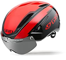 Giro Air Attack Shield Helmet - Matte Bright Red/Black Small