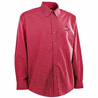 St Louis Cardinals Esteem Button Down Dress Shirt (Team Color) by Antigua