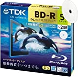 Pack of 5 TDK Blu-ray BD-R Disk Super Hard Coating Surface 50GB (DL) 1x-2x Speed (Capable of 6x write Subject to firmware upgrade) - 5- discs, each in it's own slim jewel case